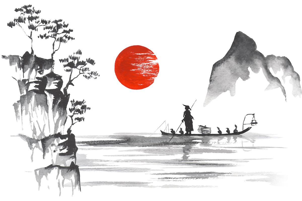 Japan Traditional japanese painting Sumi-e art